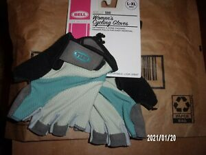 Bell  Adelle 500 Cycling Gloves Women's  L- XL Adult, Blue and Grey