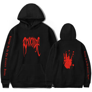 XXXTentacion REVENGE 'KILL' HOODIE MENS Black w/ Red Print Bad Vibes Forever