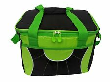 Insulated Picnic Bag Cool Bag Lunch Bag Insulated, Neon Green & Black
