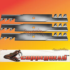 "3 Blades fit  Excel/Hustler # 795526, 783753, 785436,  52"" Cut  Super Z Mower"