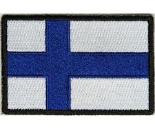 "(H29) FINLAND FLAG 3"" x 2"" iron on patch (5192) Biker Finnish"