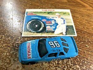 Vintage © 1989 TOM PECK #96 Blue Thomas Oldsmobile Cutlass 1/64 Scale NASCAR Car