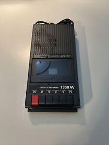 Vintage CALIFONE 1300AV Portable Cassette Tape Recorder Player Deck Black