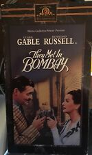 They Met in Bombay (VHS) Rare 1941 caper stars Clark Gable, Rosalind Russell