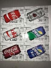 PICK 6 Flavor Tab Strips Big label Coke Pepsi soda vending machine Vendo Dixie