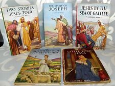 ** 5 Ladybird Books- Series 522- HB/DJ- C1960's Jesus Stories/Bethlehem.