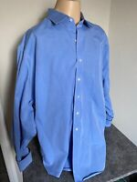 BROOKS BROTHERS 346 MENS NON IRON SHORT SLEEVE BLUE BUTTON DOWN SHIRT Sz 18!