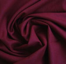 Dark Red Plain 100% Linen Dressmaking Fabric * By The Half Metre *
