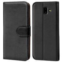 Book Case Samsung Galaxy J6 Plus Hülle Tasche Klapphülle Flip Cover Handy Schutz