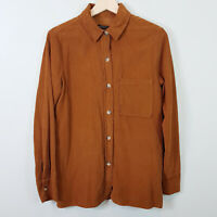 ZARA | Womens Brown Corduroy shirt / Top [ Size XS or AU 8 / US 4 ]