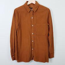 ZARA   Womens Brown Corduroy shirt / Top [ Size XS or AU 8 / US 4 ]