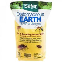 Safer Brand Diatomaceous Earth Bed Bug Flea Ant Crawling Insect Killer Cockroach