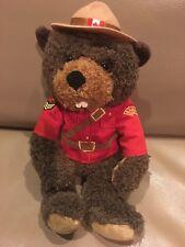 "CANADA BEAVER RCMP ROYAL CANADIAN MOUNTED POLICE 10"" STUFFED ANIMAL House Plush"
