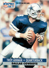 1991 PRO SET Football Card # 128 TROY AIKMAN Nr/Mt