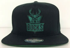 Milwaukee Bucks Mitchell & Ness NBA Snapback Hat HWC Logo Flexfit 110 Cap