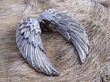 Edelstahl Anhänger Angel Wing Engelsflügel Engel Flügel  Biker Schmuck Kette