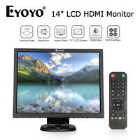 "Digital 14"" HDMI LCD Monitor Display Screen Gaming For Computer CCTV Raspeberry"