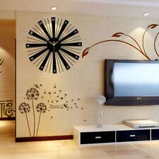 Modern Luxury Wooden Wall Clock Large Home Office Decor Wall Mount Wall Clocks
