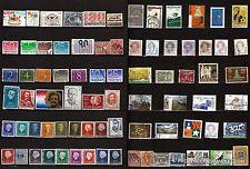 79T4 PAYS-BAS 78 timbres obliterés personnages et sujets divers