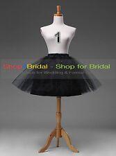 White/Black Bridal Petticoat Crinoline Underskirt Hoop/Hoopless/Mermaid/Fishtail