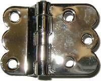 HOOSIER/SELLERS/BOONE NICKEL PLATED BRASS HINGE N1526