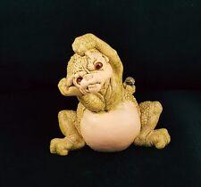 "Rare 1980's Dragon Keep Figurine ""YIKES"" w/Swarovski Crystal by Marty Sculpture"