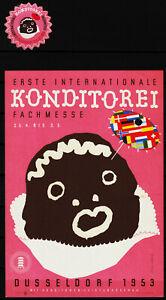 kleinplakat 1953 internationale konditorei-messe düsseldorf PLUS reklamemar/0925