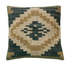 Jute Cushions Handmade Kilim Pillow Sham Vintage Jute Cushion Throw Case 2 Pcs