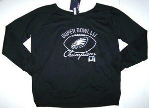 Nwt New Philadelphia Eagles Shirt Top Super Bowl Champions NFL Logo Bling Women