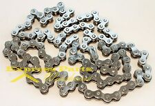 415H Motorized Bike Nickel plate Chain with Master Link, 415H 120 Links. 5 Feet.