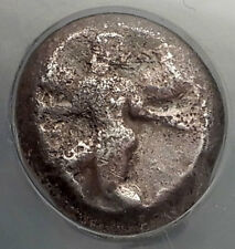 KAUNOS CARIA 470BC Silver Stater Winged Female Ancient Greek Coin NGC i59813