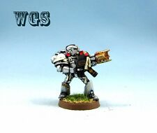 25mm Warhammer 40K WGS painted Grey Knight with Incinerator GK017