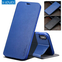 Genuine X-Level Leather Flip Wallet Stand Case Cover For iPhone 11 Pro Xs Max XR