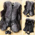 de luxe mode gilet femme fausse fourrure veste manteau gilet sans manches hiver