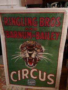 Vintage Ringling Bros. and Barnum and Bailey Circus Litho c. 1940