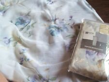 2 Jc Penney Sensations Embroidery Rod Pocket Curtain Sheer Panel Victoria Floral