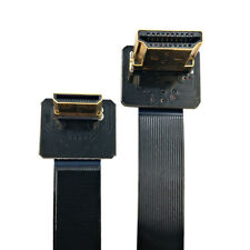 FPV HDMI Angle 90D Type A Male to Mini HDMI Down Angled Male HDTV FPC Flat Cable