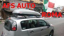 BARRE PORTATUTTO ALLUMINIO X CITROEN C3 PICASSO+BOX PORTAPACCHI KRONO 480 LT