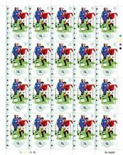 RYAN GIGGS Manchester United/Man Utd Football 20-Stamp Complete Sheet (Bernera)