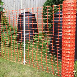 Orange Plastic Barrier Mesh Fencing Dog Pet Chicken Event Heavy Duty 7kg 1 x 50m