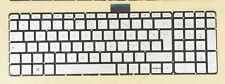 For HP envy 17-n000nf 17-n001nf 17-n002nf Keyboard French Clavier Backlit Silver