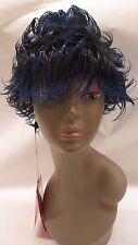 Black and Blue Mix Short Spiked Hair Wig