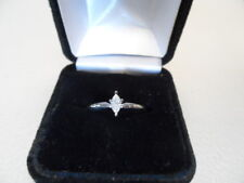 Marques Diamond Solitaire .20 Ct, 14 Kt White Gold, 2.3 Grams, Size 7.25