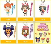 Pokemon Mascot Swing PVC Keychain Figure Girls Misty Serena Dawn May ND85720