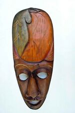African Jungle Tribal Mask Hand Crafted Hard Wood Collectible Decor