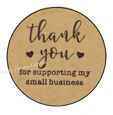 30 THANK YOU FOR SUPPORTING MY BUSINESS ENVELOPE SEALS LABELS STICKERS 1.5""