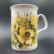 More details for vintage roy kirkham yellow poppy's fine bone china mug england robin gibbard