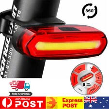 6 Modes LED Simpeak Bicycle Bike USB Cycling Front Rear Tail Light Rechargeable