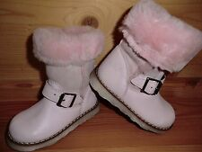 Clic 6075-AL Stiefel Gr. 22 rosa Leder Fell warm Winter elegant Schnalle Spanien