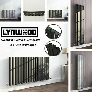 Rads UK Branded LYNWOOD Designer Flat Oval Panel Column Home Radiators All Sizes